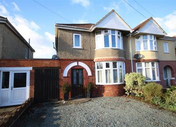 Thumbnail 3 bedroom semi-detached house for sale in Brooklands Avenue, Rodbourne Green, Swindon