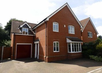 Thumbnail 4 bed detached house for sale in Foxley Close, Ipswich, Suffolk