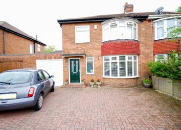 Thumbnail 3 bedroom semi-detached house for sale in Westwood Road, Gosforth, Newcastle Upon Tyne