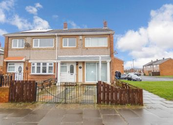 Thumbnail 3 bed semi-detached house for sale in Exeter Close, Ashington