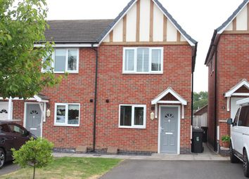 Thumbnail 2 bed town house for sale in Queens Close, Earl Shilton, Leicester