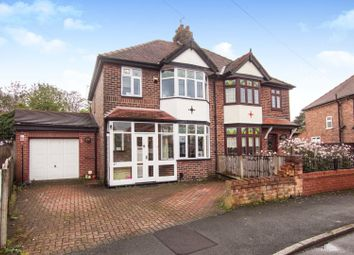 Thumbnail 3 bed semi-detached house for sale in Shadewood Crescent, Grappenhall