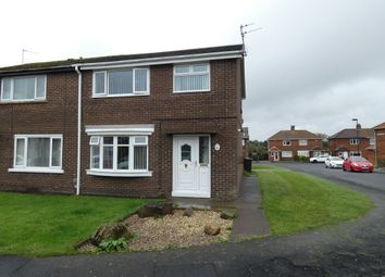 Thumbnail 3 bed semi-detached house for sale in Meadow Drive, Seaton Burn, Newcastle Upon Tyne