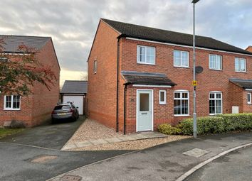 Thumbnail 3 bed semi-detached house for sale in Oak Crescent, Leicestershire, Ashby-De-La-Zouch