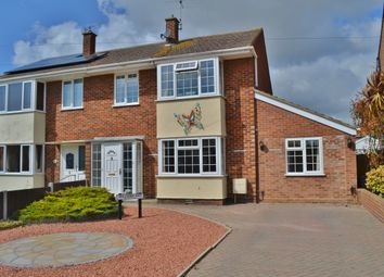 Thumbnail 3 bed semi-detached house for sale in Langer Road, Felixstowe