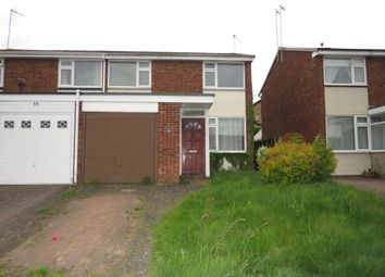Thumbnail 3 bed semi-detached house for sale in Cornwallis Road, Rugby