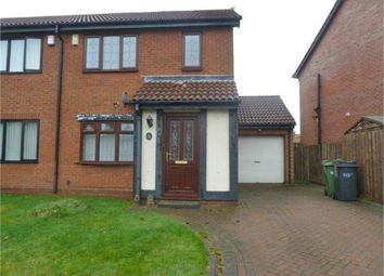 Thumbnail 3 bed semi-detached house for sale in Coleridge Drive, Choppington, Northumberland