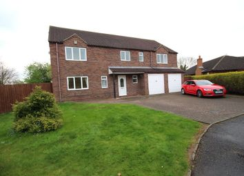 Thumbnail 5 bed detached house to rent in Manor Close, Eagle, Lincoln