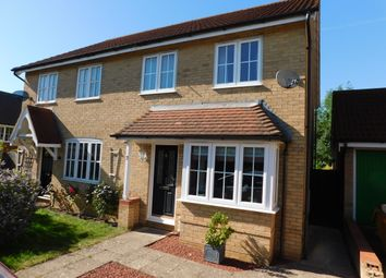 Thumbnail 3 bedroom semi-detached house for sale in Finch Close, Stowmarket
