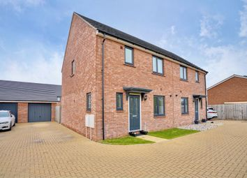 Thumbnail 3 bed semi-detached house for sale in Jackson Avenue, Sawtry, Huntingdon