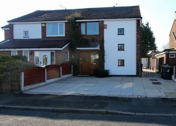 Thumbnail 3 bed semi-detached house to rent in Woodhall Avenue, Whitefield, Manchester