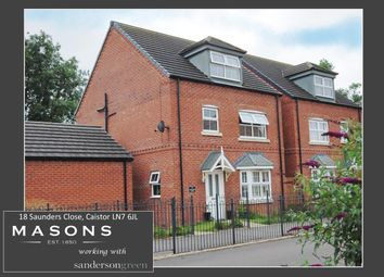 Thumbnail 4 bed detached house for sale in Saunders Close, Caistor, Market Rasen