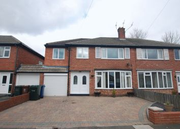 Thumbnail 5 bedroom semi-detached house for sale in Thropton Crescent, Gosforth, Newcastle Upon Tyne