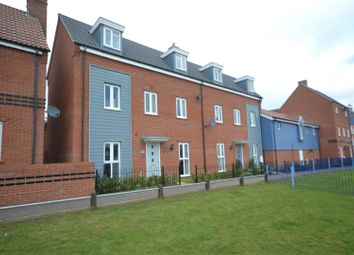 Thumbnail 3 bed town house for sale in Costessey, Norwich