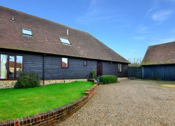 Thumbnail 5 bedroom barn conversion for sale in Singledge Lane, Whitfield, Dover