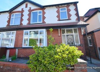 Thumbnail 3 bedroom semi-detached house to rent in Harrogate Avenue, Prestwich, Manchester