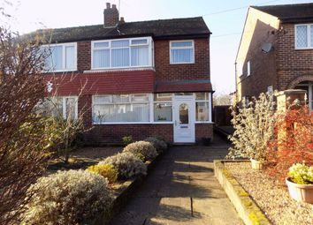 Thumbnail 3 bed semi-detached house for sale in Chertsey Close, Manchester