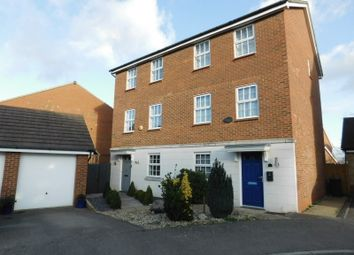 Thumbnail 3 bed town house for sale in Glossop Way, Church End, Arlesey, Beds