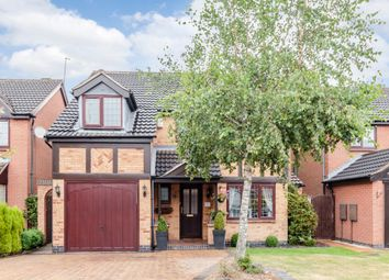 Thumbnail 4 bedroom detached house for sale in Birchwood Close, Leicester, Leicestershire