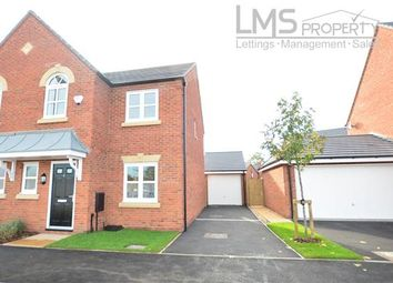 Thumbnail 3 bed semi-detached house to rent in Flint Close, Arclid, Sandbach