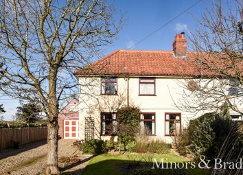 Thumbnail 3 bed semi-detached house for sale in Swardeston Lane, East Carleton, Norwich
