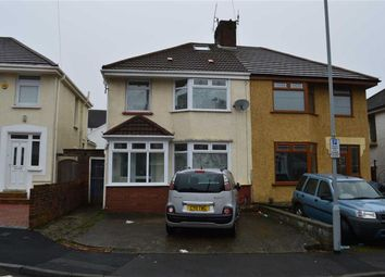 Thumbnail 3 bed semi-detached house for sale in Siloh Crescent, Swansea