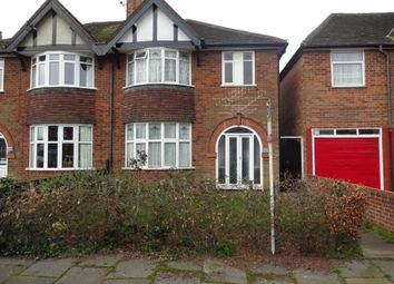 Thumbnail 3 bedroom semi-detached house for sale in Lindsay Road, Rowley Fields, Leicester