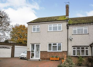 Thumbnail 3 bed semi-detached house for sale in Homefield Close, Swanley, Kent