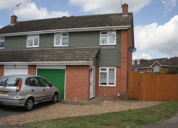 Thumbnail 3 bed semi-detached house to rent in Eynsham Close, Woodley, Reading