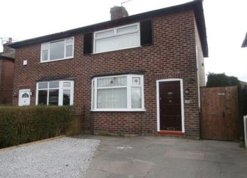 Thumbnail 2 bed semi-detached house to rent in Silverdale Avenue, Denton, Manchester