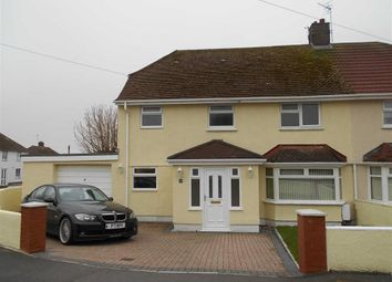 Thumbnail 3 bed semi-detached house to rent in Castle Road, Rhoose, Vale Of Glamorgan