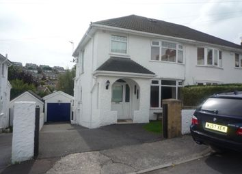 Thumbnail 3 bed semi-detached house to rent in Druslyn Road, West Cross, Swansea