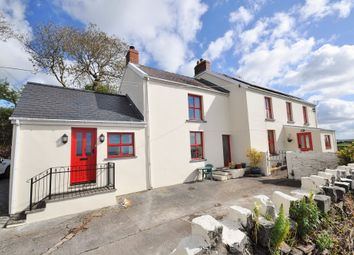 Thumbnail 5 bed farmhouse for sale in Rogers Well, Llansadurnen, Laugharne, Carmarthen