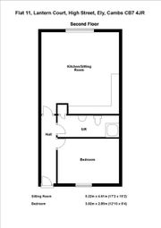 Thumbnail 1 bedroom flat to rent in Lantern Court, High Street, Ely