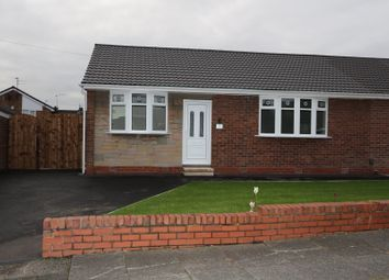 Thumbnail 2 bed semi-detached bungalow to rent in Hutton Avenue, Worsley, Manchester