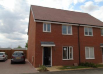 Thumbnail 3 bed semi-detached house to rent in Kentish Street, Berryfields, Aylesbury