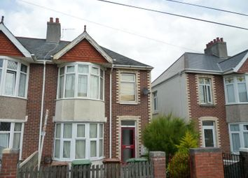 Thumbnail 1 bed flat to rent in Ladysmith Road, Lipson, Plymouth