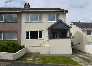 Thumbnail 3 bed semi-detached house for sale in Cae Glas, Rhiwlas, Bangor
