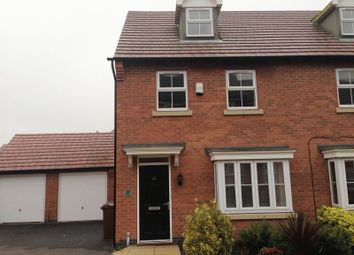 Thumbnail 3 bedroom semi-detached house to rent in Columbus Lane, Earl Shilton, Leicester