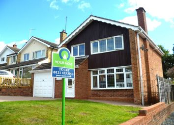 Thumbnail 3 bed detached house to rent in Ashmead Rise, Cofton Hackett, Birmingham