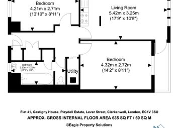 Thumbnail 2 bed flat for sale in Gastigny House, Lever Street, Old Street
