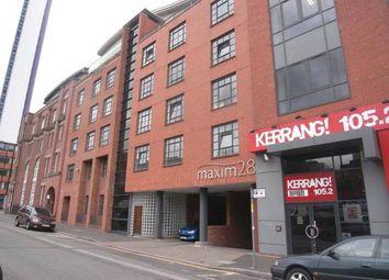 Thumbnail 2 bed flat to rent in Maxim 28, 21 Lionel Street, Birmingham