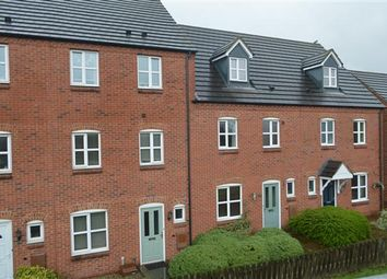 Thumbnail 4 bed town house for sale in Bridgeside Close, Clayhanger, Walsall