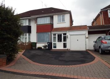Thumbnail 3 bed semi-detached house for sale in Thurlston Avenue, Olton, Solihull, West Mildands
