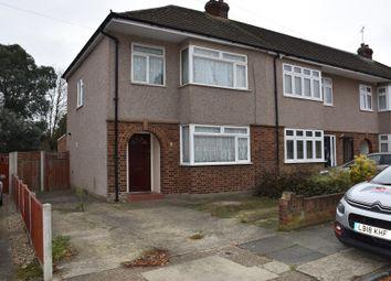 Thumbnail 3 bedroom end terrace house to rent in Woodside Close, Rainham