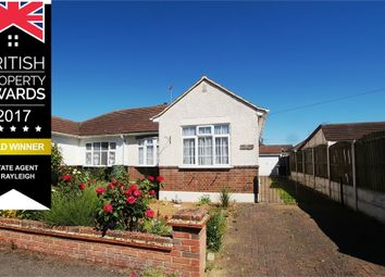 Thumbnail 2 bed semi-detached bungalow for sale in Sweyne Close, Near To Station, Rayleigh, Essex