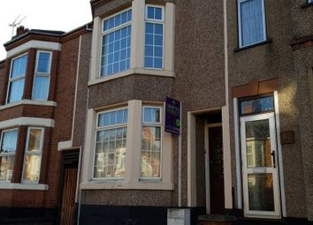 Thumbnail 3 bed terraced house to rent in Manor Road, Rugby