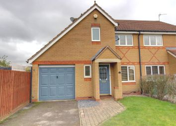 Thumbnail 3 bed semi-detached house for sale in Smart Close, Thorpe Astley, Braunstone, Leicester