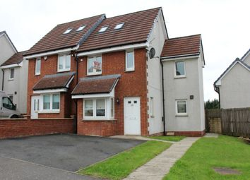 Thumbnail 3 bed semi-detached house to rent in Millgate Crescent, Caldercruix, North Lanarkshire