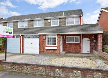Thumbnail 4 bed semi-detached house for sale in Tichborne Way, Gosport, Hampshire